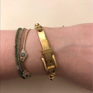 Michael Kors Gold Belt Bangle🔥✨💛